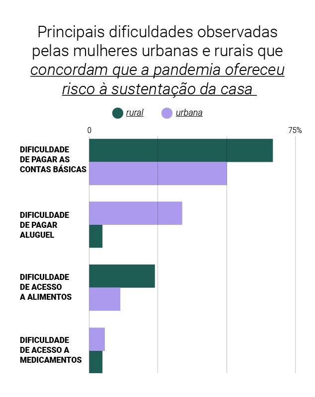 Gráfico - mulheres afirmaram que colocaram a sustentação da casa em risco